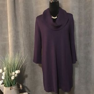 Style & Co. long Purple Cowl Neck Sweater, Size M
